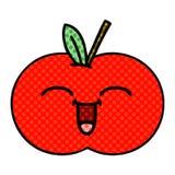 Comic book style cartoon red apple. A creative illustrated comic book style cartoon red apple royalty free illustration