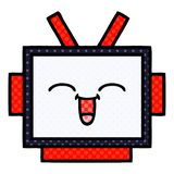Comic book style cartoon robot head. A creative illustrated comic book style cartoon robot head royalty free illustration