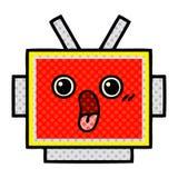 Comic book style cartoon robot head. A creative illustrated comic book style cartoon robot head vector illustration