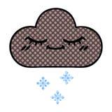 Comic book style cartoon storm snow cloud. A creative illustrated comic book style cartoon storm snow cloud stock illustration
