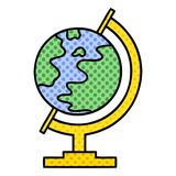 Comic book style cartoon world globe. A creative illustrated comic book style cartoon world globe vector illustration