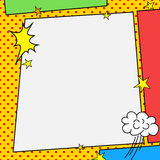 Comic book style frame Royalty Free Stock Photos