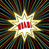 Comic Book Style Graphic with Power Word wham n Star Burst Royalty Free Stock Images