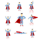 Comic book style page cartoon pose collection Stock Image