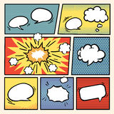 Comic book style speech bubbles set Royalty Free Stock Images