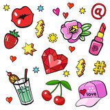 Comic book style stickers Stock Images