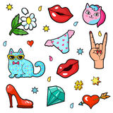 Comic book style stickers Royalty Free Stock Photo