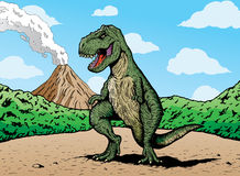Comic book T-rex Stock Photography