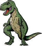 Comic book T-rex Stock Photo