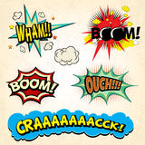 Comic book vector exclamations royalty free stock photography
