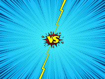 Comic book versus battle background. Comic book versus template background, vintage magazine page style, battle intro Royalty Free Stock Images