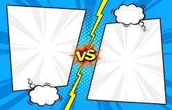Free Comic Book Versus Template Background, Halftone Print Textur Stock Image - 115839681