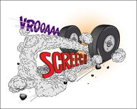 Comic book - Wheels. Additional  format Illustrator 8 eps Royalty Free Stock Photos
