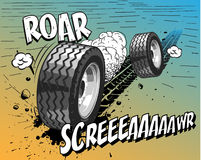 Comic book - Wheels. Additional  format Illustrator 8 eps Stock Image