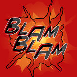 Comic Book Word - Blam Blam Stock Photography