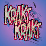 Comic Book Word - Krakt Royalty Free Stock Images