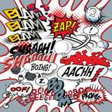 Comic book words explosions Royalty Free Stock Photography
