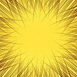Comic book yellow background. With rays in star shape dotted and radial humor effects. Vector illustration Royalty Free Stock Images