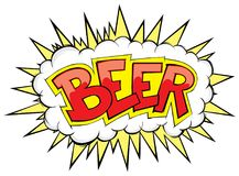 Comic boom beer  vintage style Royalty Free Stock Photo
