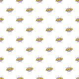 Comic boom crunch pattern seamless. In flat style for any design vector illustration