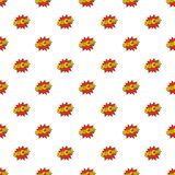 Comic boom ouch pattern seamless. In flat style for any design Stock Photography