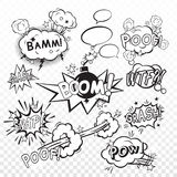 Comic boom set Royalty Free Stock Photos