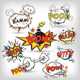 Comic boom set Stock Images