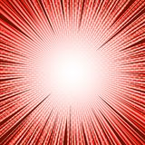 Comic bright template. With rays radial and halftone effects in red colors. Vector illustration Royalty Free Stock Image