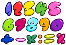 Comic bubble numbers Stock Photography