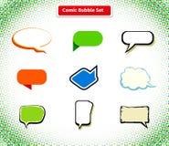 Comic Bubble Set Icon Flat Style Design Stock Photos