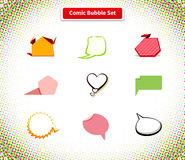 Comic Bubble Set Icon Flat Style Design Royalty Free Stock Photo