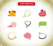 Comic Bubble Set Icon Flat Style Design Royalty Free Stock Photo