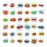 Comic bubbles. Cartoon text balloons. Pow and zap, smash and boom expressions. Speech bubble vector pop art stickers vector illustration