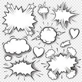 Comic bubbles and elements 3 Royalty Free Stock Photo