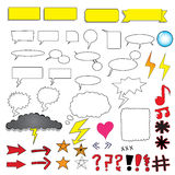 Comic bubbles and elements Royalty Free Stock Images