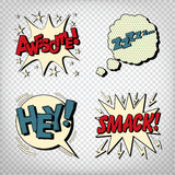 Comic Bubbles with Expressions. Pop Art Bubbles Stock Image