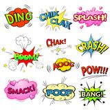 Comic bubbles vector isolated set Stock Images