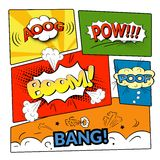 Comic bubbles vector isolated set Royalty Free Stock Photography