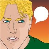 Comic-Buch-Artmann Lizenzfreies Stockfoto