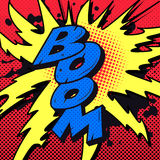 Comic-Buch-Boom-Explosion Stockfotografie