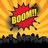 Comic-Buch-Explosionszusammenfassung Stockfotografie