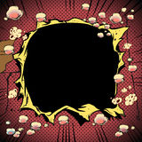 Comic-Buch-Loch-Explosion Lizenzfreie Stockfotos