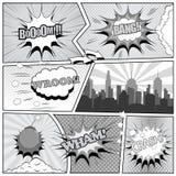 Comic-Buch-Seitenhintergrund Lizenzfreies Stockfoto