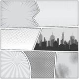 Comic-Buch-Seitenschablone Stockbild
