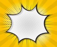 Comic-Buch-Sprache-Blase, Pop-Arten-Karikatur lizenzfreie abbildung