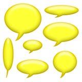 Comic-Buch-Untertitelen und Sprache-Luftblasen Stockfotos