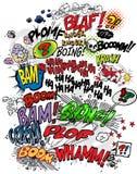 Comic-Buch - Wörter Stockfotos