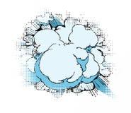 Comic-Buch-Wolkenhintergrund Stockfotos