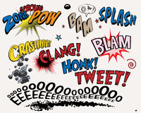 Comic-Buchelemente Lizenzfreies Stockbild