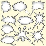 Comic-Buchgedankenluftblasen Stockfoto